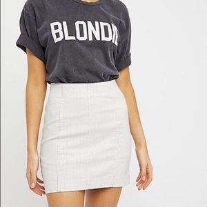 FREE PEOPLE novelty modern femme skirt